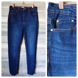 Zara dark denim stretch skinny  jeans
